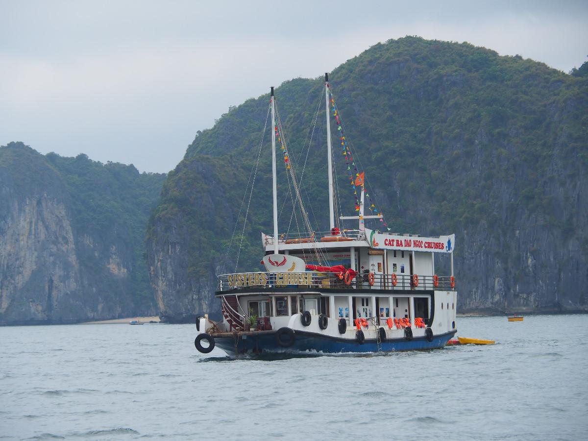 Zatoka Ha Long, wietnam, statek, ship